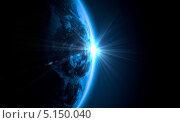 вид планеты Земля из космоса. Стоковое фото, фотограф Sergey Nivens / Фотобанк Лори