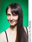 Купить «Портрет сексуальной брюнетки крупным планом», фото № 5154832, снято 15 ноября 2009 г. (c) Станислав Фридкин / Фотобанк Лори