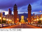 Купить «Пейзаж вечерней Барселоны», фото № 5157040, снято 11 сентября 2013 г. (c) Яков Филимонов / Фотобанк Лори