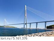 Купить «Владивосток. Мост Русский», фото № 5161376, снято 20 сентября 2013 г. (c) Наталья Волкова / Фотобанк Лори
