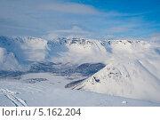 Купить «Хибины, вид с горы Кукисвумчорр», фото № 5162204, снято 31 марта 2009 г. (c) Юлия Бабкина / Фотобанк Лори