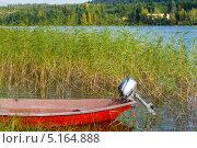 Рыбацкая лодка на озере. Финляндия. Стоковое фото, фотограф Антон Журавков / Фотобанк Лори
