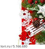 Купить «Новогодняя композиция», фото № 5166680, снято 8 ноября 2012 г. (c) Наталия Кленова / Фотобанк Лори