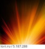 Купить «Абстрактный лучистый фон в оранжево-красных тонах», иллюстрация № 5187288 (c) Владимир / Фотобанк Лори