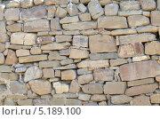 Текстура старинной каменной кладки. Стена. Стоковое фото, фотограф Илья Сладков / Фотобанк Лори