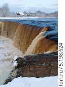 Зимний водопад. Стоковое фото, фотограф Коптева Зоя / Фотобанк Лори