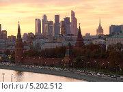 Купить «Вечер над Кремлем», фото № 5202512, снято 12 октября 2013 г. (c) Михаил Ястребов / Фотобанк Лори