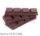 Купить «Шоколад на белом фоне», фото № 5211432, снято 19 марта 2012 г. (c) Natalja Stotika / Фотобанк Лори