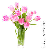 Букет розовых тюльпанов в вазе. Стоковое фото, фотограф Natalja Stotika / Фотобанк Лори