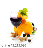 Купить «Вино, сыр и виноград», фото № 5213080, снято 8 августа 2013 г. (c) Наталия Кленова / Фотобанк Лори