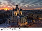 Купить «Санкт-Петербург, вид на Владимирский собор на рассвете», фото № 5216376, снято 11 декабря 2019 г. (c) Смелов Иван / Фотобанк Лори