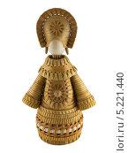 Купить «Берестяная кукла. Изолировано на белом», фото № 5221440, снято 6 декабря 2010 г. (c) Петр Ермаков / Фотобанк Лори