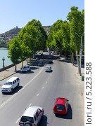 Купить «Правая набережная реки Мтквари. Тбилиси. Грузия», фото № 5223588, снято 3 июля 2013 г. (c) Евгений Ткачёв / Фотобанк Лори