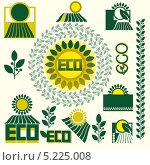 Набор элементов на экологическую тематику. Стоковая иллюстрация, иллюстратор РифХасанов / Фотобанк Лори