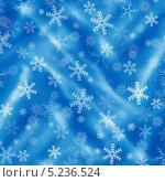 Купить «Новогодний голубой фон со снежинками», иллюстрация № 5236524 (c) Светлана Ильева (Иванова) / Фотобанк Лори