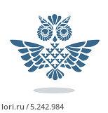 Синяя сова. Стоковая иллюстрация, иллюстратор Вероника Ковалева / Фотобанк Лори