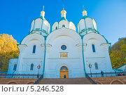 Купить «Успенский собор Святогорского монастыря на Украине», фото № 5246528, снято 16 октября 2009 г. (c) Николай Голицынский / Фотобанк Лори