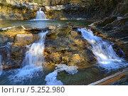 Купить «Каскад водопадов на реке Жане. Геленджик, Краснодарский край», эксклюзивное фото № 5252980, снято 9 ноября 2013 г. (c) Игорь Архипов / Фотобанк Лори