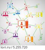 Купить «Схема социальных сетей», иллюстрация № 5255720 (c) Андрей Ярославцев / Фотобанк Лори