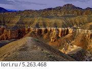 Купить «Чарынский каньон перед рассветом. Алма-Атинская область, Казахстан», эксклюзивное фото № 5263468, снято 10 августа 2013 г. (c) Николай Сивенков / Фотобанк Лори