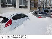 Заметенные автомобили. Стоковое фото, фотограф Александров Алексей / Фотобанк Лори