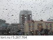 Купить «Дождь, капли воды на окне», эксклюзивное фото № 5267764, снято 27 октября 2013 г. (c) Михаил Рудницкий / Фотобанк Лори