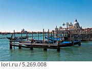 Венецианские гондолы (2013 год). Редакционное фото, фотограф Алла Вовнянко / Фотобанк Лори