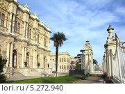 Купить «Дворец Долмабахче, Стамбул», фото № 5272940, снято 5 декабря 2012 г. (c) Михаил Коханчиков / Фотобанк Лори