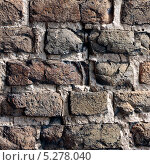 Фрагмент кирпичной кладки замка Любарта. Луцк (2013 год). Стоковое фото, фотограф Дмитрий Поляков / Фотобанк Лори