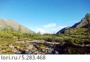 Высокогорные луга Баргузинский хребет на озере Байкал. Стоковое фото, фотограф Пыткина Альбина / Фотобанк Лори