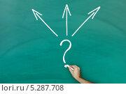 Купить «рука изображает концепцию выбора», фото № 5287708, снято 19 января 2013 г. (c) Андрей Попов / Фотобанк Лори