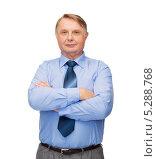 Купить «Успешный мужчина средних лет на белом фоне», фото № 5288768, снято 12 октября 2013 г. (c) Syda Productions / Фотобанк Лори