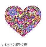Сердце с орнаментом. Стоковая иллюстрация, иллюстратор kiyanochka / Фотобанк Лори
