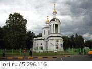 Купить «Церковь Иконы Божией Матери Влахернская в Кузьминках, Москва», эксклюзивное фото № 5296116, снято 4 июля 2009 г. (c) lana1501 / Фотобанк Лори