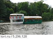 """Купить «Баржа """"Мельник Кузьма"""", Верхний Кузьминский пруд, Кузьминский лесопарк, Москва», эксклюзивное фото № 5296128, снято 4 июля 2009 г. (c) lana1501 / Фотобанк Лори"""