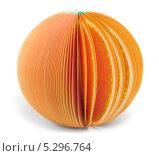 Купить «Бумажный апельсин», фото № 5296764, снято 17 ноября 2013 г. (c) Максим Пименов / Фотобанк Лори