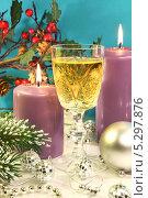 Купить «Новогодняя композиция», фото № 5297876, снято 19 ноября 2013 г. (c) Виктор Топорков / Фотобанк Лори