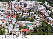 Купить «Вид с птичьего полета на Тбилиси. Грузия», фото № 5301392, снято 3 июля 2013 г. (c) Евгений Ткачёв / Фотобанк Лори