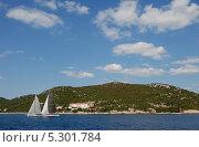 Купить «Хорватия. Яхты у побережья», эксклюзивное фото № 5301784, снято 16 сентября 2012 г. (c) Svet / Фотобанк Лори