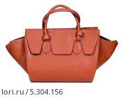Купить «Женская сумка на белом фоне», фото № 5304156, снято 29 октября 2013 г. (c) Egorius / Фотобанк Лори