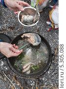 Купить «Уха из лосося (красной рыбы)», фото № 5305088, снято 28 февраля 2020 г. (c) А. А. Пирагис / Фотобанк Лори