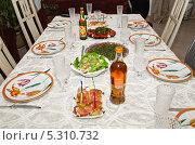 Купить «Сервировка детского стола», эксклюзивное фото № 5310732, снято 24 мая 2012 г. (c) Алёшина Оксана / Фотобанк Лори