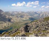 Пейзаж горные озера Баргузинского хребта на озере Байкал, Бурятия. Стоковое фото, фотограф Пыткина Альбина / Фотобанк Лори