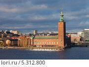 Купить «Швеция. Стокгольм. Городская ратуша», эксклюзивное фото № 5312800, снято 23 ноября 2013 г. (c) Литвяк Игорь / Фотобанк Лори