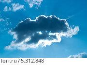 Синее небо. Стоковое фото, фотограф Александр Первунин / Фотобанк Лори