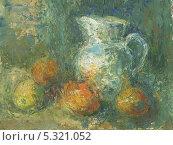 Кувшин и фрукты. Стоковая иллюстрация, иллюстратор Гузель Гайсина / Фотобанк Лори