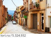 Купить «Улица в каталонском городе Бреда, Испания», фото № 5324932, снято 1 июля 2013 г. (c) Яков Филимонов / Фотобанк Лори