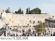 Купить «Стена Плача. Общий вид. Иерусалим. Израиль», фото № 5325308, снято 12 ноября 2013 г. (c) Александр Овчинников / Фотобанк Лори