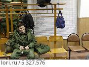 Купить «Военный призыв-2013, в областном военкомате города Железнодорожный», эксклюзивное фото № 5327576, снято 28 ноября 2013 г. (c) Дмитрий Неумоин / Фотобанк Лори