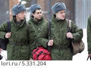 Военный призыв 2013 в областном военкомате города Железнодорожного. Редакционное фото, фотограф Дмитрий Неумоин / Фотобанк Лори